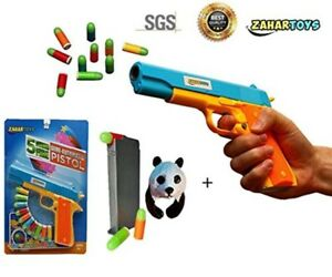 Nerf Toy Gunn Toy Pistol Classic m1911 Kids Colorful Darts With Soft Bullets New