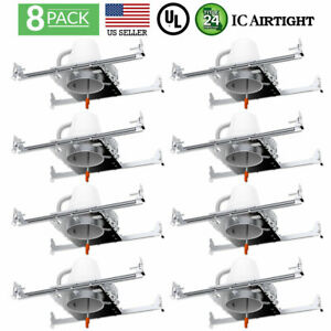 SUNCO 8 PACK 4-INCH NEW CONSTRUCTION CAN AIR TIGHT IC HOUSING RECESSED LED LIGHT