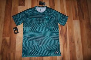 NIKE DRI FIT BARCELONA DRY SQUAD TRAINING JERSEY SHIRT TOP TEE 808921 393 SZ L