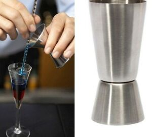 Cocktail Measuring Double Jigger Measure Shot Drink Spirit Measure Cup LE2 Gift