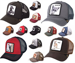 Goorin Bros Animal Farm Snapback Trucker Hat Cap Rooster Stallion Pecker Lion