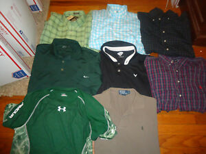 Polo Ralph Lauren Pony Shirt Lot 8 Mens XL Nike Golf Under Armour
