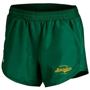 Under Armour Oakland Athletics Women's Green Fly By Performance Running Shorts