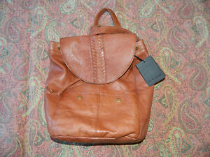 Gorgeous NWT Day & Mood Leather Whiskey Flap Front Backpack Women's Purse Fall