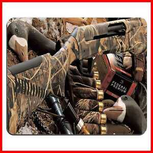 DUCK HUNTING CAMOUFLAGE SHOTGUN BULLETS DECOY IMAGE COMPUTER MOUSE PAD color-01