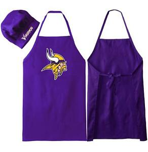 f RMINNESOTA VIKINGS APRON & CHEF'S HAT for BARBECUE GAME DAY TAILGATING NFL