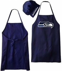 SEATTLE SEAHAWKS APRON & CHEF'S HAT for BARBECUE GAME DAY TAILGATING NFL