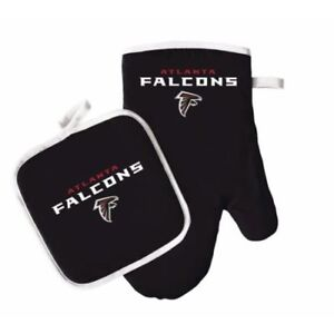 Atlanta Falcons Oven Mitt & Pot Holder Set Tailgate Barbecue Tailgating NFL