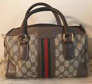 Authentic Gucci Vintage Monogram GG  Web Doctor  Speedy TLC  As Is