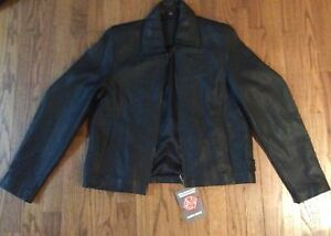 leather jacket men's small  woman's medium anniversary