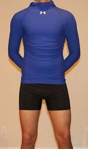 VERY RARE Under Amour Thermal Shirt Hooded compression running football