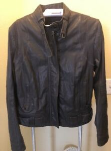 MARC NEW YORK ANDREW MARC gray Women's Leather Jacket VGC - SIZE Small