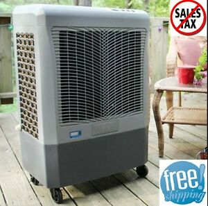 Portable Evaporative Cooler 3 Speed Outdoor Oscillating Garage Wet Air Swamp