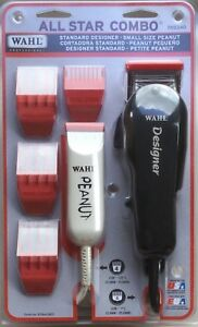 Wahl Professional All Star Combo # 8331 Designer Clippers & Peanut Trimmer