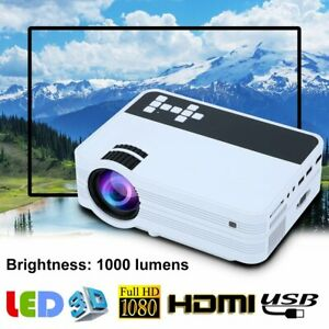 Upgraded Mini Movie Projector T20 1500lm TV Laptop Game iPhone Smartphone #CZ