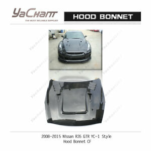 Carbon Fiber Bonnet Fit For 2008-2015 Nissan R35 GTR CBA DBA YC-1 Hood