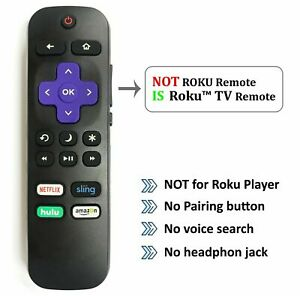 New Remote for Hisense ROKU TV w Volume Control and TV Power Button