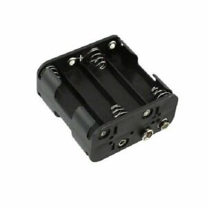 2PCS Black Plastic Battery Holder Case for 8 x AA 12V Batteries