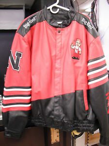 Brand New Vintage University of Nebraska Herbie CornHusker Leather Jacket sz XL