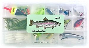 Tailored Tackle Trout Fishing Kit 98 pcs. Gear Set Lures Spinners Jerkbai... New