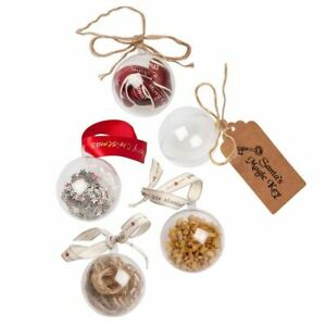 Round Ball Mould Transparent Fillable Chirtsmas Tree Clear Baubles 4 6 8 10 cm