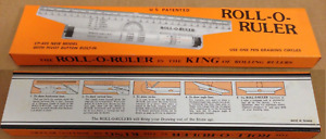 Roll O Ruler Rolling Drafting Ruler 12in Wei#x27;s CP 405 $7.65
