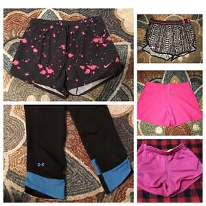 Womens Nike Under Armour Shorts And Capri Lot Small Running Sports (5)