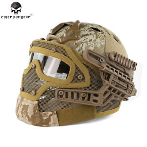 Mask Tactical Airsoft Helmet Full Face Paintball Protective Googles System New