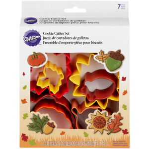 Metal Cookie Cutter Set 7pcs-Autumn - 3 Pack