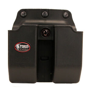 Fobus 6909NDBH Double Mag Pouch 9mm 357 and 40 Calibers. Belt Black