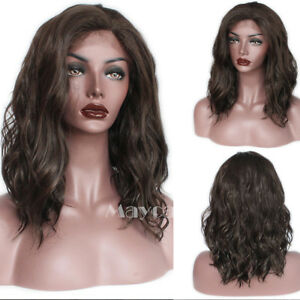 Beauty 14'' #8 Synthetic Lace Front Wigs Deep Curly Wig Heat Glueless For Women