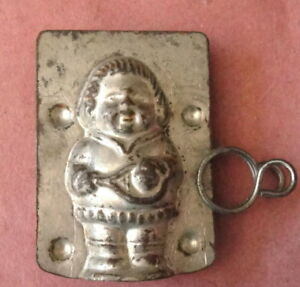 Antique Chocolate Mold: TENNIS PLAYER YOUNG LADY; Mould European; Racket