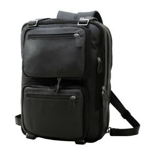 Genuine Leather Backpack Men 14