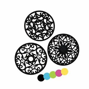 ME.FAN 3 Set Silicone Multi-Use Intricately Carved Trivet Mat -... Free Shipping