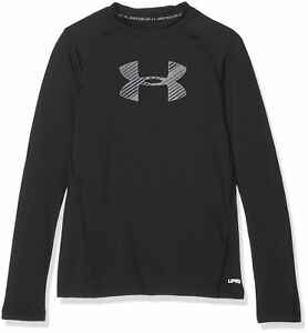 Under Armour Boys' HeatGear Mid Shorts Black Graphite Youth Small NEW