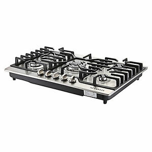 Branded 30quot;COOKTOP Steel Built in 5 Burners Stove LPG NG Gas Hob Cooktop US SHIP $268.62