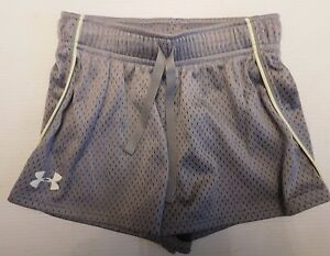 Girls Gray Under Armour Heat Gear Athletic Shorts Size Youth XS YXS Girl's Loose