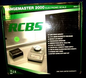 RCBS Rangemaster 2000 Electronic Touchscreen Reloading Powder Scale - 98945