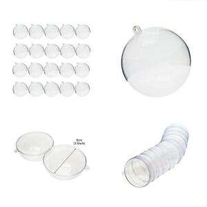 FREE SHIPPING Molds 90mm Clear Plastic Fillable Ball Ornament DIY Bath Bomb Of