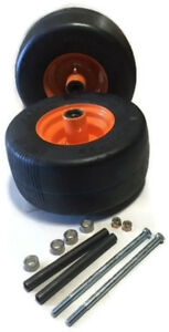 2 Caster Wheel with Hardware For SOME Scag Mowers Front Solid Tire 13X6.5-6