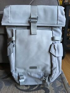Under Armour Pro Series SC Roll-Top Gray Waxed Canvas Leather Backpack $250