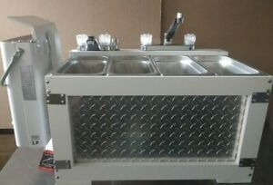 Portable Sink Concession Sink Propane Camping Sink 3 Compartment Sink