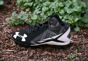 Under Armour Baseball Black Active Shoes Cleats for boys size 4 NEW