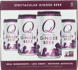 Q DRINKS GINGER BEER 4 PACK Pack of 6 4 7.5FZ