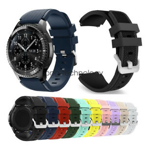 Samsung Gear S3 / Galaxy Watch 46mm Band Strap Rugged Silicon Sport Bracelet
