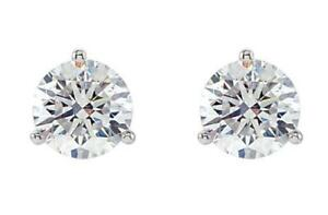 1 carat Diamond Stud Earrings Martini Round Screw backs Stones and ScrewBacks