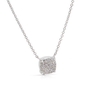 Tiffany & Co. Paloma Picasso Sugar Stacks Necklace in 18K White Gold  (0.16 CTW)
