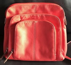 Tignanello Leather Crossbody Shoulder Bag Purse With Build In Wallet Organizer .