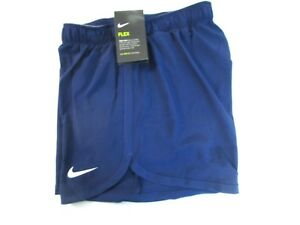 Nike Women's SM Dry-Fit 2 in 1 Training Shorts Cool Navy  Lt Grey AH8478 429 []