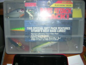 PRE RAPALA STORM LURES BASS ATTACK PACK ! THIS IS A SPECIAL GIFT PACK VERY RARE